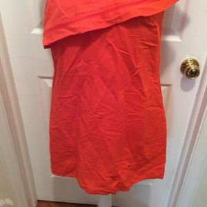 Tory Burch Dresses - Tory Burch Dress S Dark Orange One Shoulder Pocket